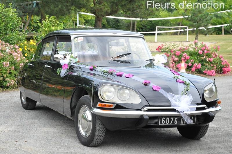 Mariage fleurs d 39 motion - Decoration voiture mariage sans fleur ...