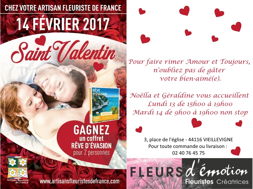 Fleurs d'émotion - Saint Valentin 2017